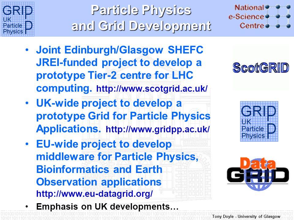 Tony Doyle - University of Glasgow European DataGrid – WP7 WP7 Network Services