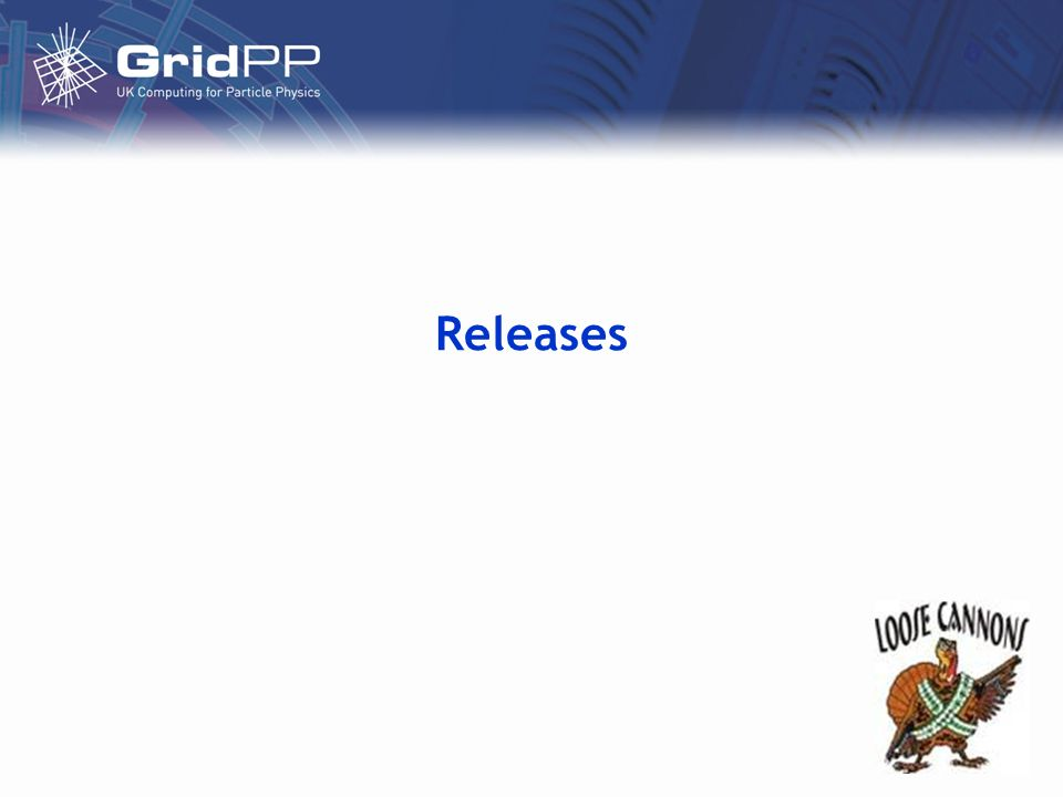 July 6 th 2005gLite Status gLite releases so far Release 1.0 on April 5 th –Released to meet deadline –WMS + CE + Fireman + gLite i/o + R-GMA + VOMS –AliEn, GAS and package manager gone –Several things missing or not working well No SE in gLite –Documentation is reasonable Release 1.1 on May 12 th –First versions of File Transfer Service (FTS), metadata catalogue –Secure file catalogues –Bug fixes