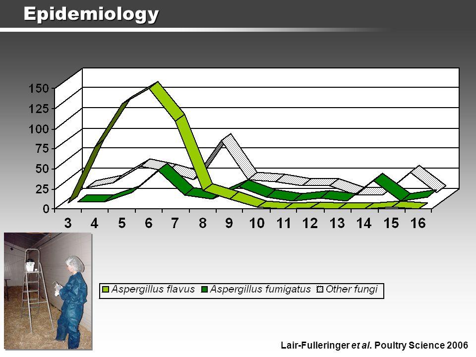 Epidemiology 5 males 5 females 10 healthy chicks, 23 isolates, 1 unique genotype Lair-Fulleringer et al.
