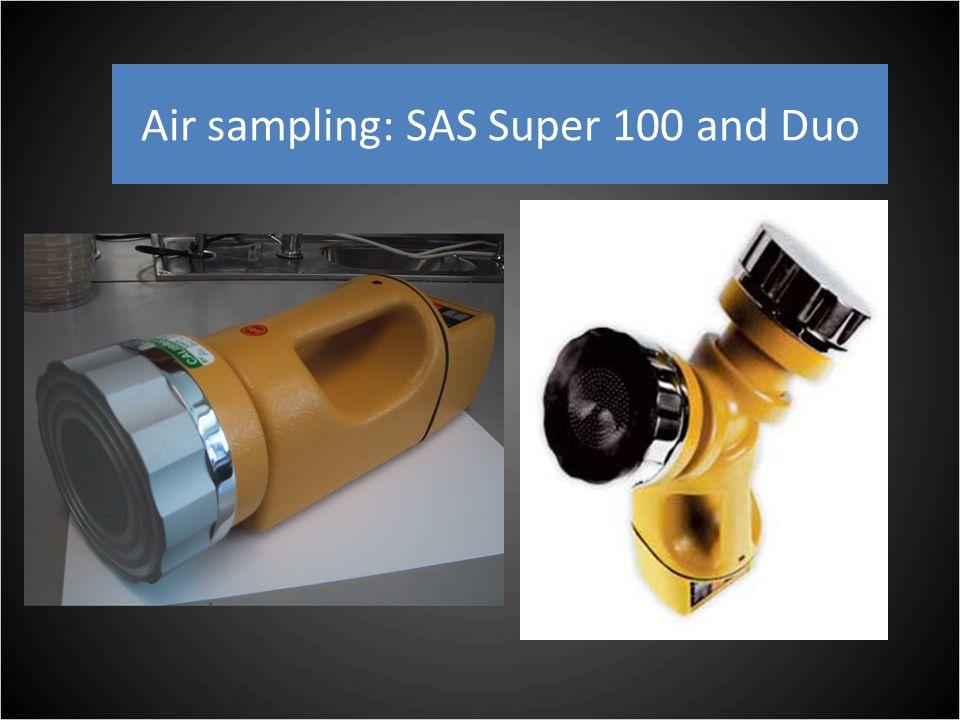 Air sampling: SAS Super 100 and Duo