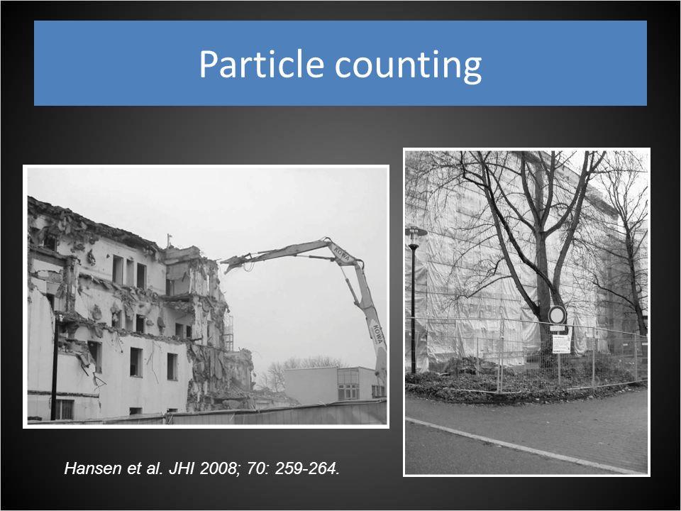 Particle counting Hansen et al. JHI 2008; 70: 259-264.