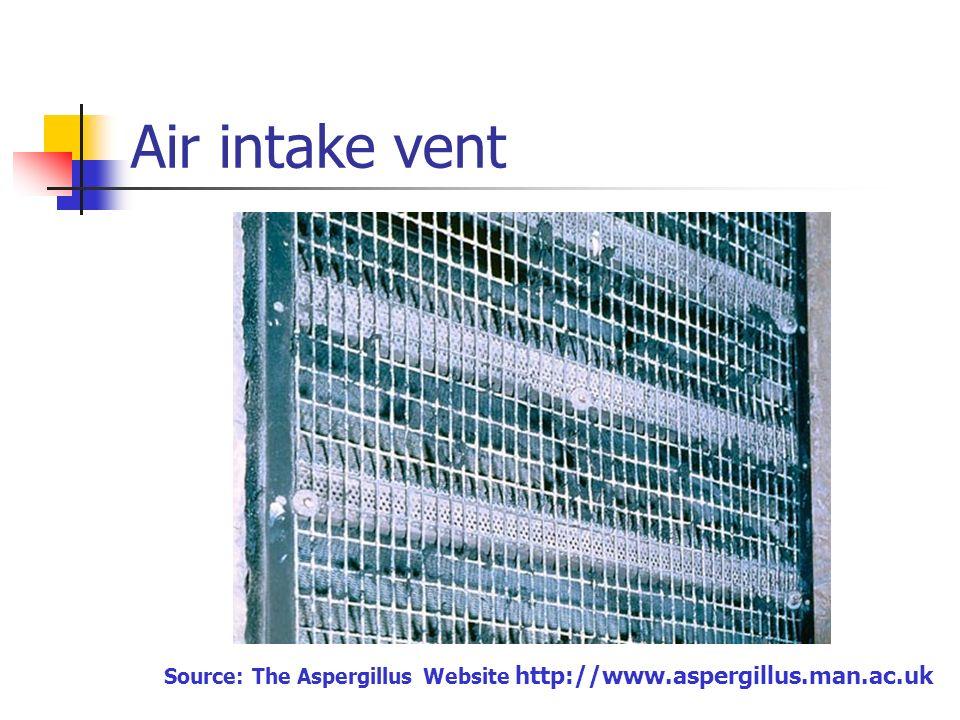 Air intake vent Source: The Aspergillus Website http://www.aspergillus.man.ac.uk