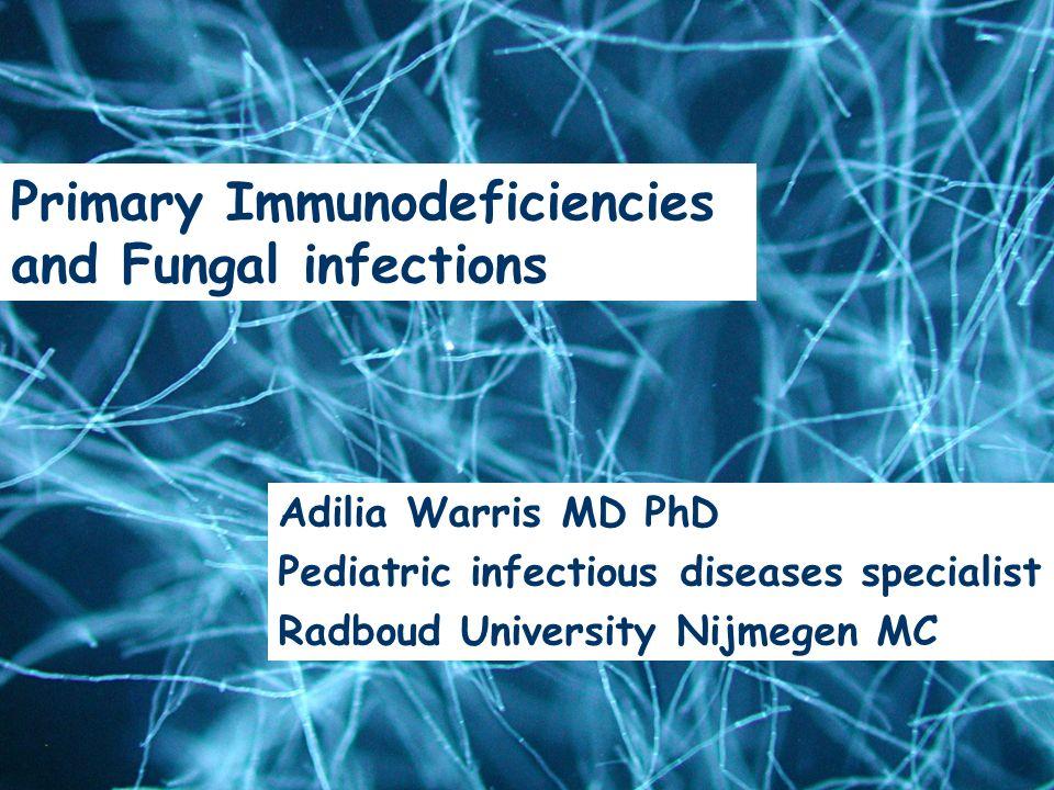 Epidemiology & Risk Factors Adilia Warris, MD Nijmegen University Center of Infectious Diseases, UMC St Radboud Adilia Warris MD PhD Pediatric infecti