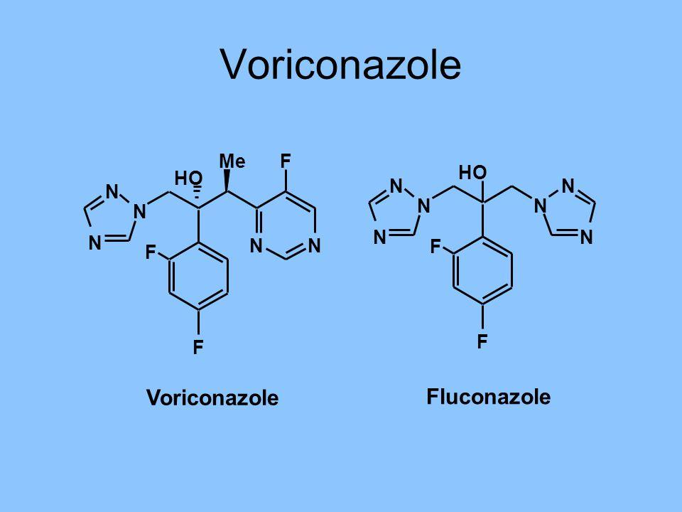 Voriconazole N N N NN Me HO F F F Fluconazole NN N N HO F F N N Voriconazole