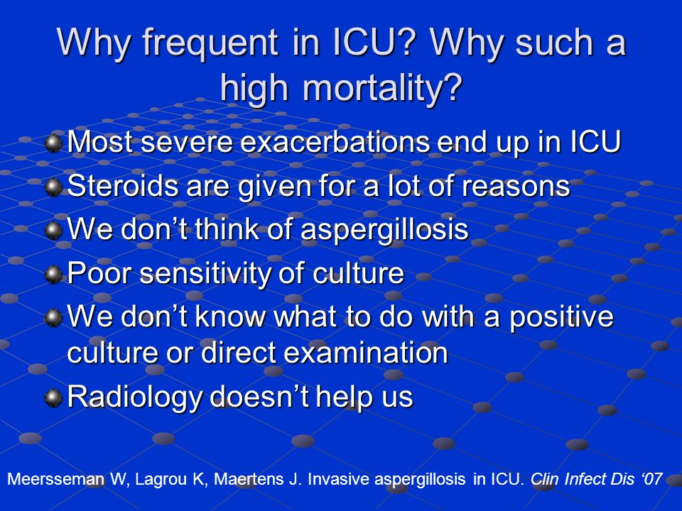 Why frequent in ICU.Why such a high mortality.