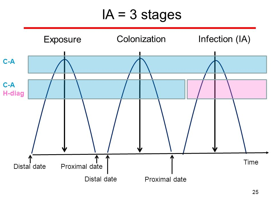 Exposure ColonizationInfection (IA) Distal date IA = 3 stages Proximal date Distal date Proximal date C-A H-diag 25 Time