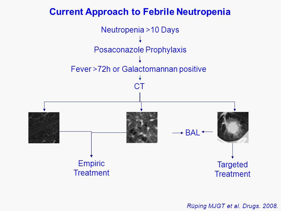 Neutropenia >10 Days Fever >72h or Galactomannan positive Posaconazole Prophylaxis Empiric Treatment CT BAL Rüping MJGT et al.