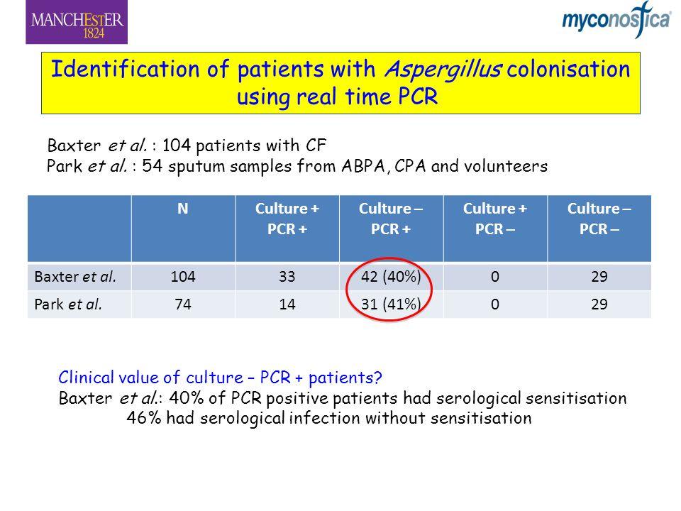 Baxter et al.: 104 patients with CF Park et al.