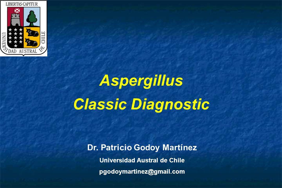 Aspergillus Classic Diagnostic Dr. Patricio Godoy Martínez Universidad Austral de Chile pgodoymartinez@gmail.com