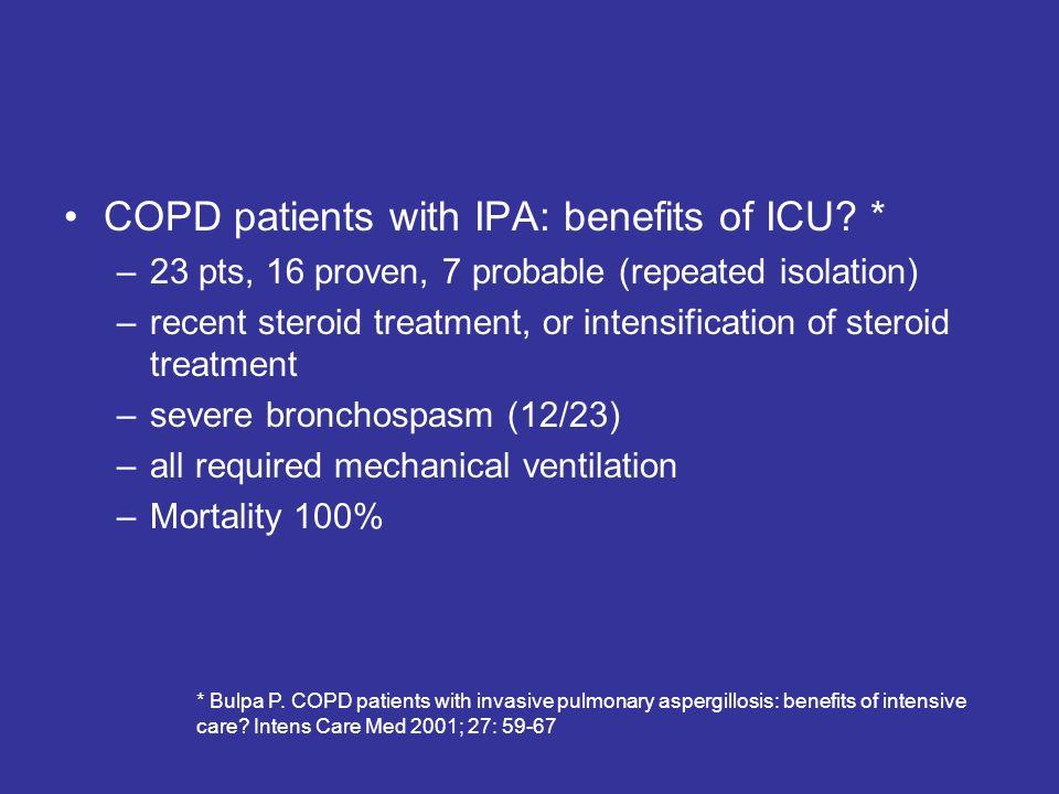COPD patients with IPA: benefits of ICU.