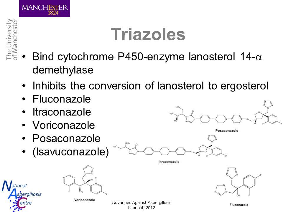Advances Against Aspergillosis Istanbul, 2012 Saturation of metabolism 6 mg/kg i.v 2 dosages 4 mg/kg b.d.