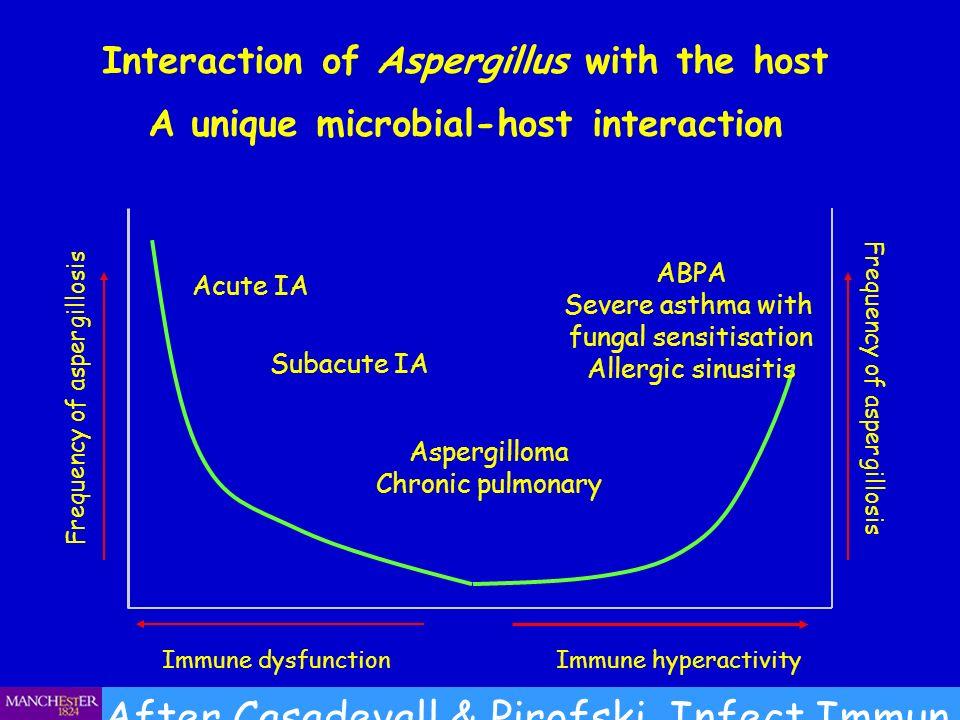Aspergillus precipitins (Aspergillus antibody (IgG) ) in blood Severo on www.aspergillus.org.uk Patient 1 blood Patient 2 blood Patient 3 blood Patient 4 blood Patient 5 blood Patient 6 blood Aspergillus extract