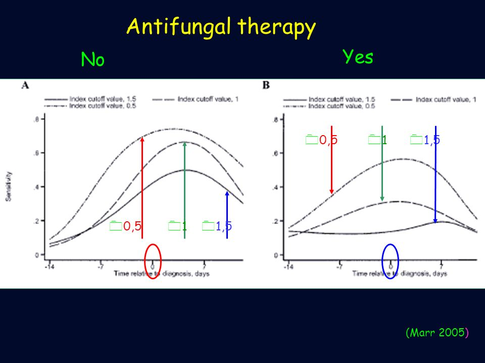 Antifungal therapy 0 1,5 0101 0 0,5 0101 0 1,5 (Marr 2005) Yes No