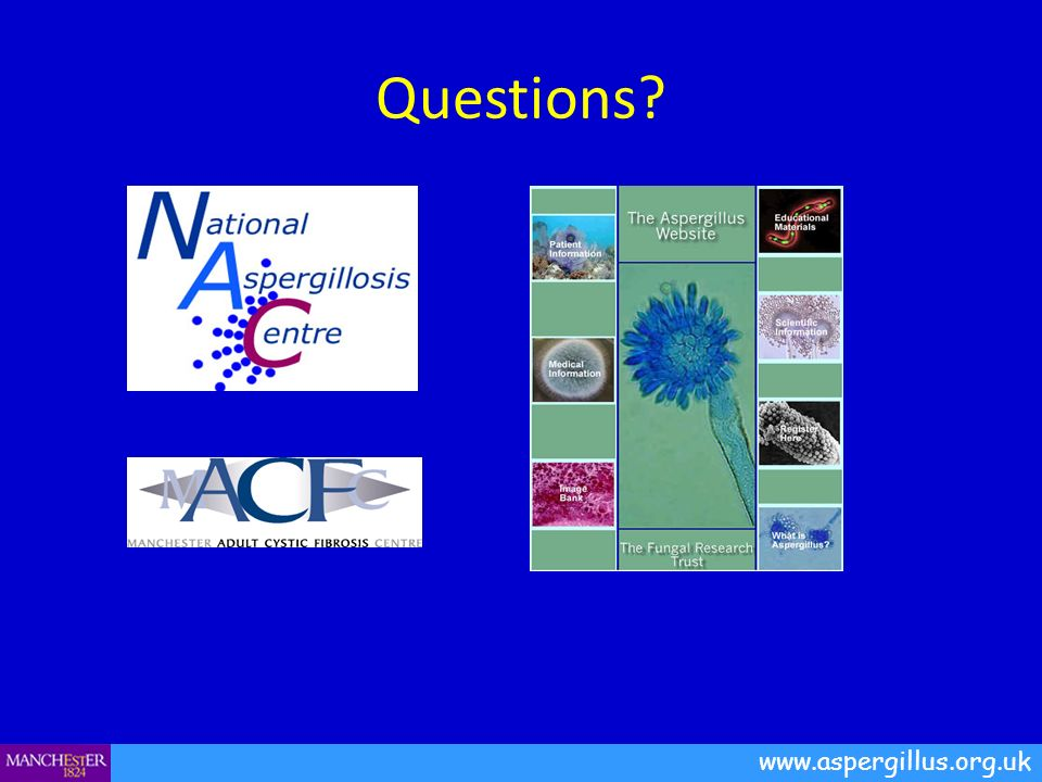 Questions? www.aspergillus.org.uk