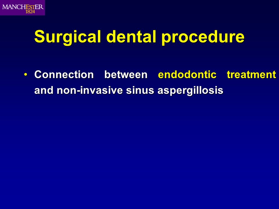 Connection between endodontic treatment and non-invasive sinus aspergillosisConnection between endodontic treatment and non-invasive sinus aspergillos