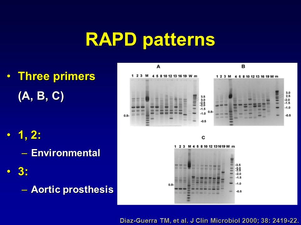 Diaz-Guerra TM, et al. J Clin Microbiol 2000; 38: 2419-22.