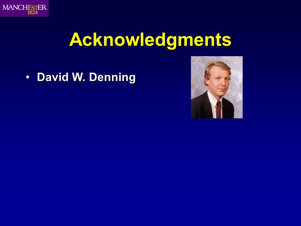 Acknowledgments David W. DenningDavid W. Denning