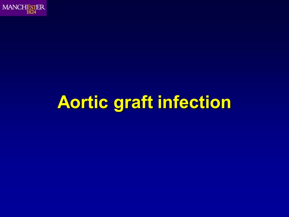 Aortic graft infection