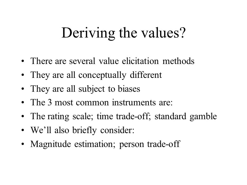 Deriving the values.