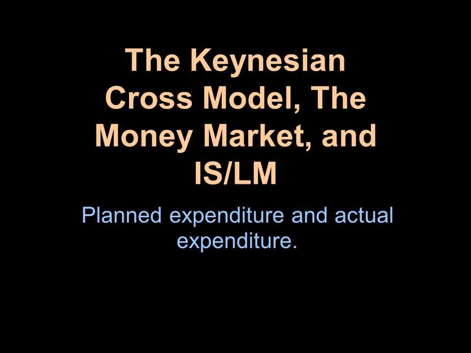 Constructing the Keynesian Cross Actual expenditure is Y and planned expenditure is E = C + I + G.