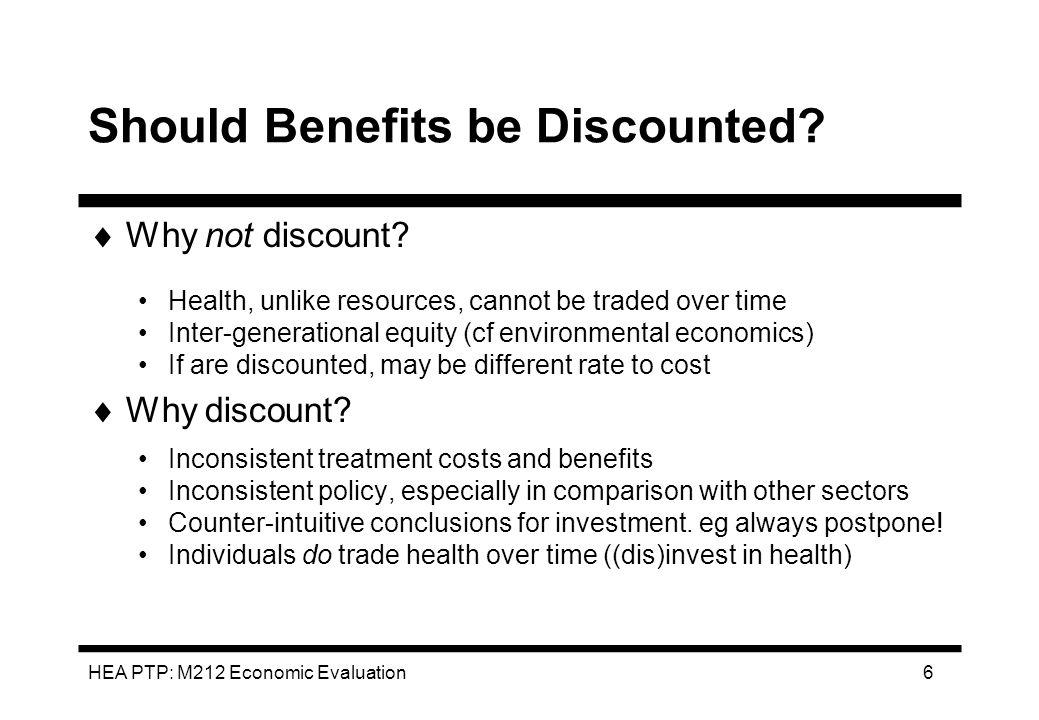 HEA PTP: M212 Economic Evaluation 37 League Tables: Handle With Care.