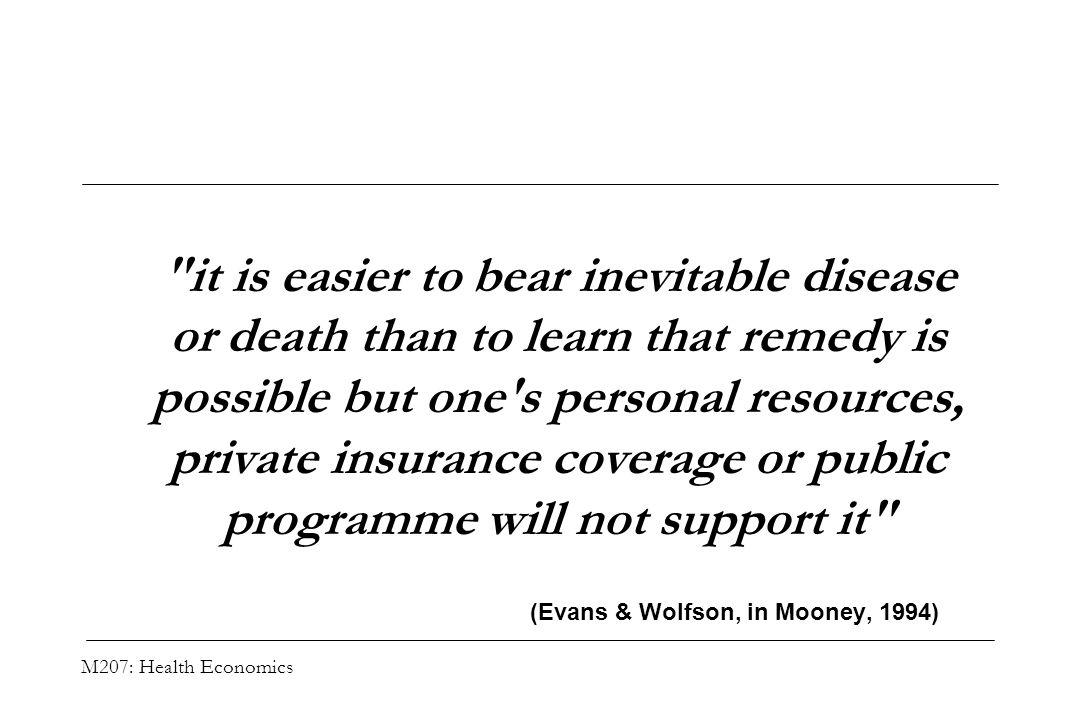 M207: Health Economics