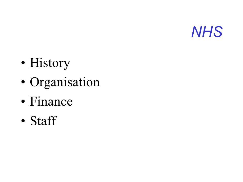 NHS History Organisation Finance Staff