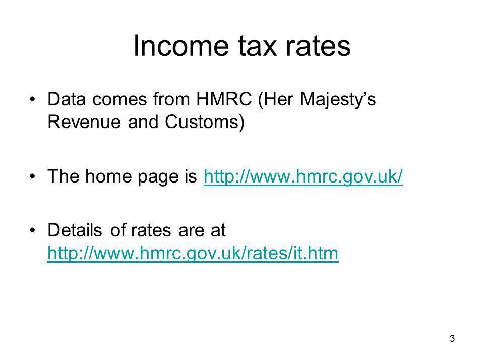 44 Suppose that there are three tax brackets Bracket 1 £ 0 - £5000 Bracket 2 £5000 - £20 000 Bracket 3 > £20 000.