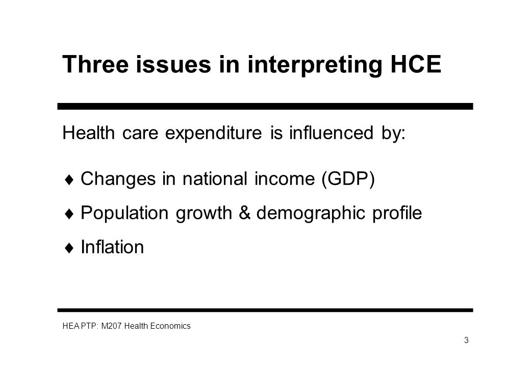 HEA PTP: M207 Health Economics 4 Why might HCE increase.