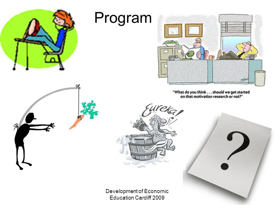 Development of Economic Education Cardiff 2009 Program