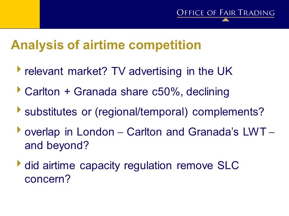 Analysis of airtime competition relevant market.