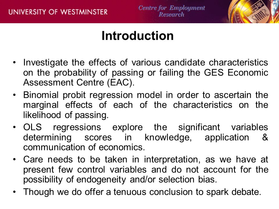Background Just over 1,000 GES Economists 2007.