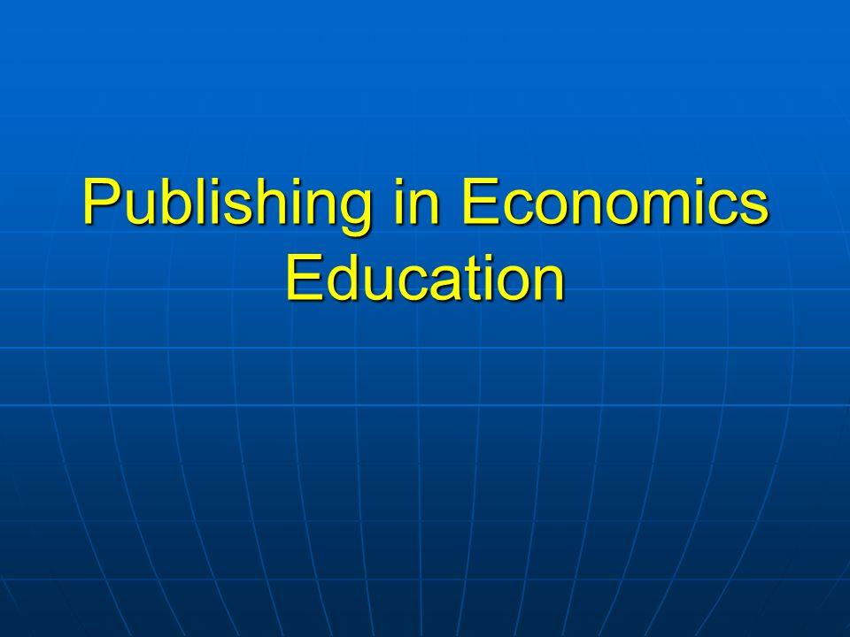 Publishing in Economics Education