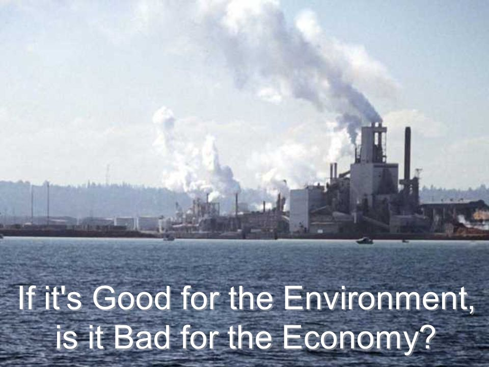 If it's Good for the Environment, is it Bad for the Economy? If it's Good for the Environment, is it Bad for the Economy?