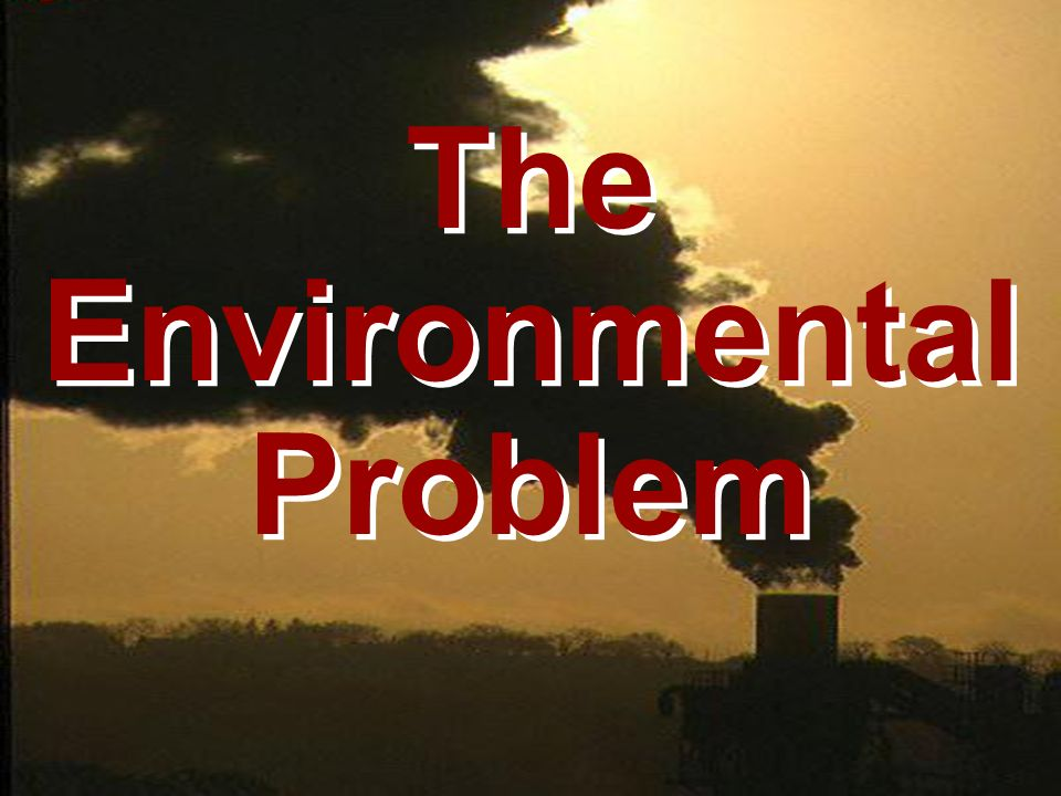 The Environmental Problem