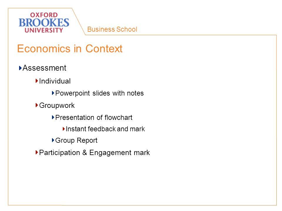 Business School Economics in Context What happened.