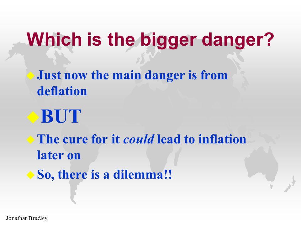 Jonathan Bradley Which is the bigger danger.