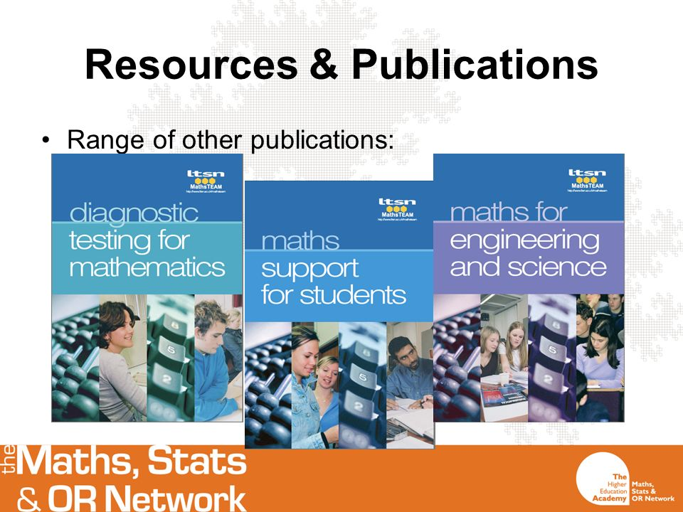 Resources & Publications Range of other publications: