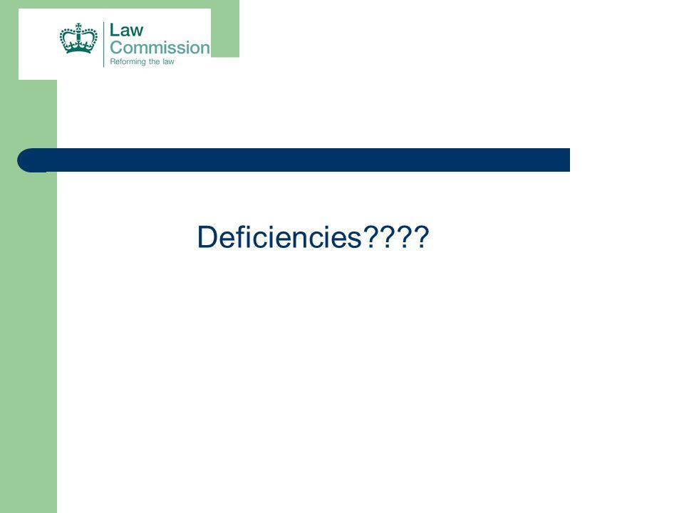 Deficiencies????