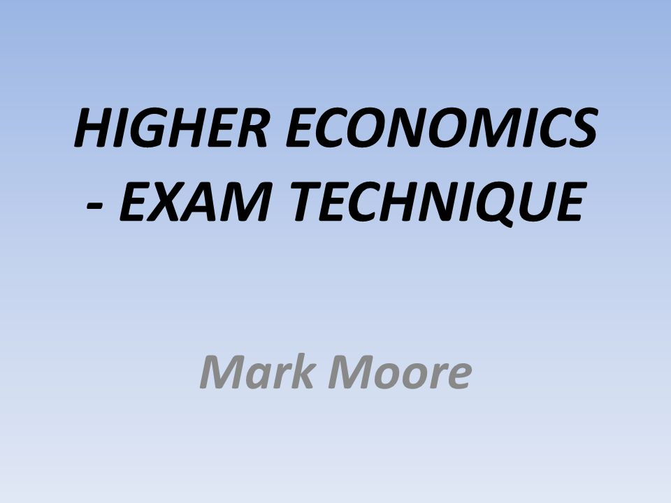 Why Bother? Because exam technique can make a significant difference to your final grade