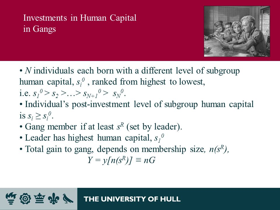 N individuals each born with a different level of subgroup human capital, s i 0, ranked from highest to lowest, i.e.