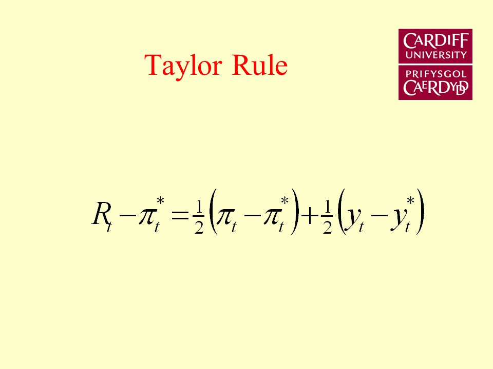 Monetary Control Techniques Open Market Operations Infinite supply of base money at the current rate of interest. Interest rate policy. Taylor rule -