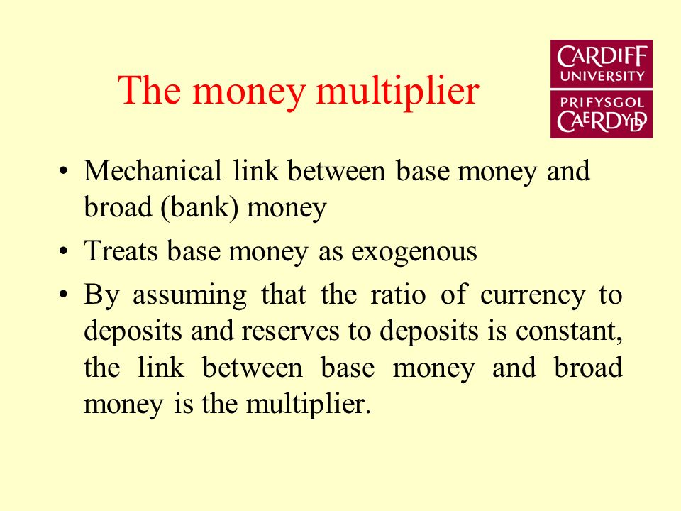 Examine the simple money multiplier approach to money supply determination Examine the meaning of financial innovation. Examine implications for the m
