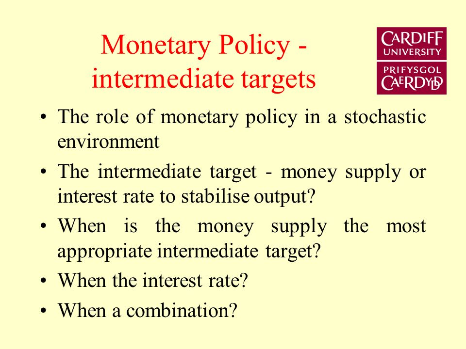 McCallum (1981) (1986) If the monetary authorities follow an interest rate rule, it is possible to obtain a determinate price level. m t = m* + a(R t