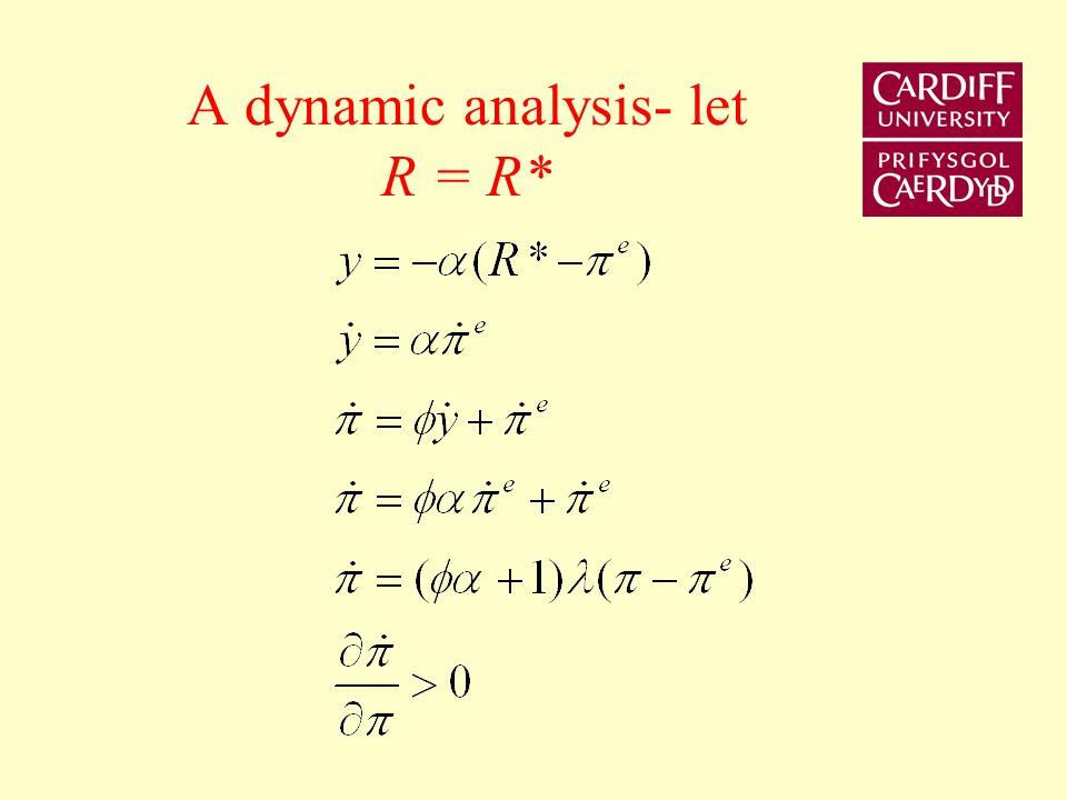 A dynamic analysis- let R = R*