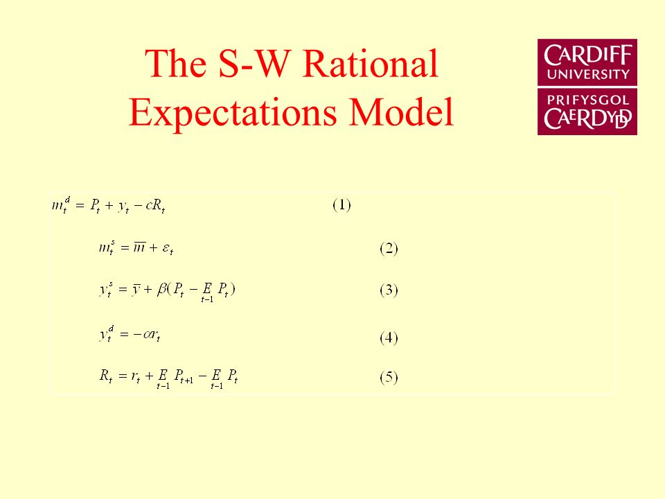 The S-W Rational Expectations Model