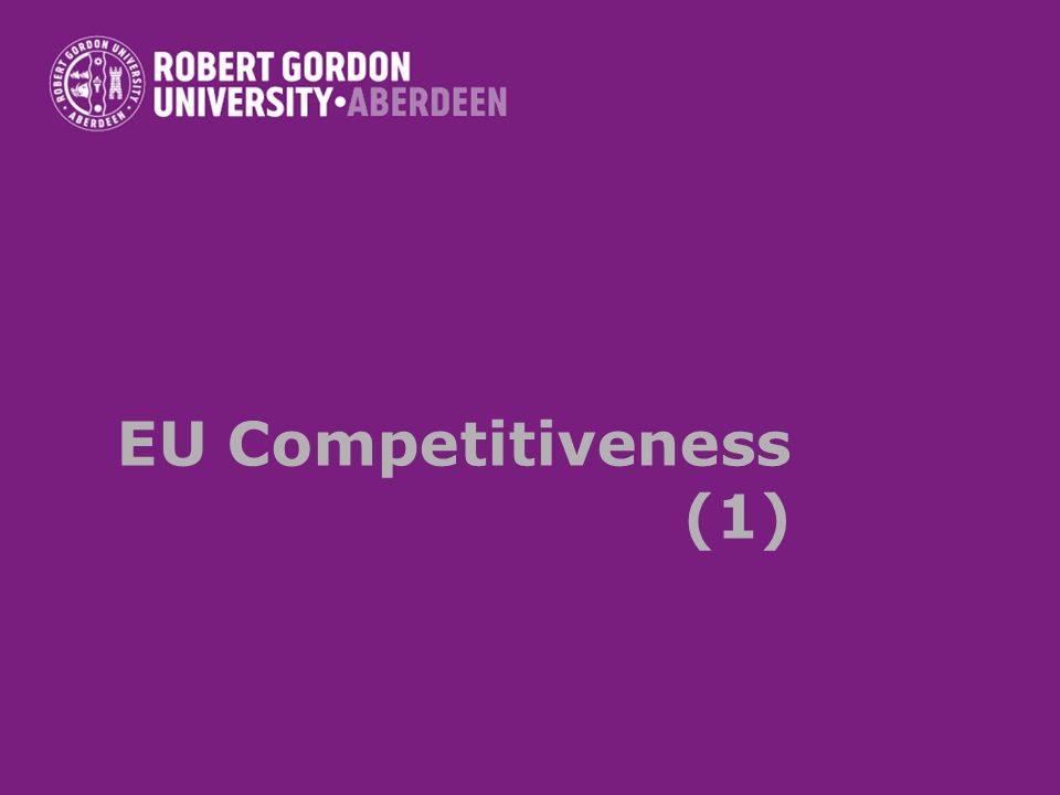 The concept of competitiveness Controversies surrounding the concept of regional, national or supranational economies Microeconomic definition of competitiveness of enterprises –Reduction of costs –Higher quality –Higher market share –Capacity to improve profits –Efficiency –POSITION RELATIVE TO COMPETITORS