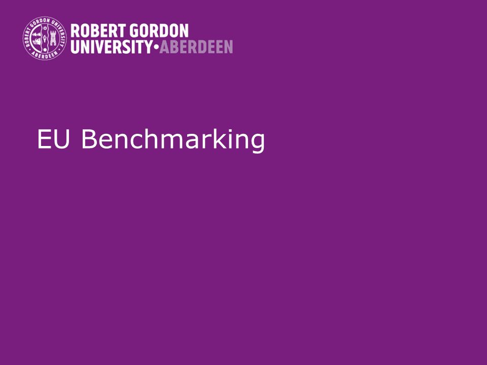 EU Benchmarking