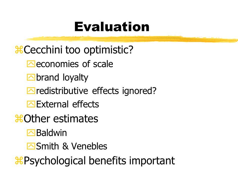 Evaluation zCecchini too optimistic.