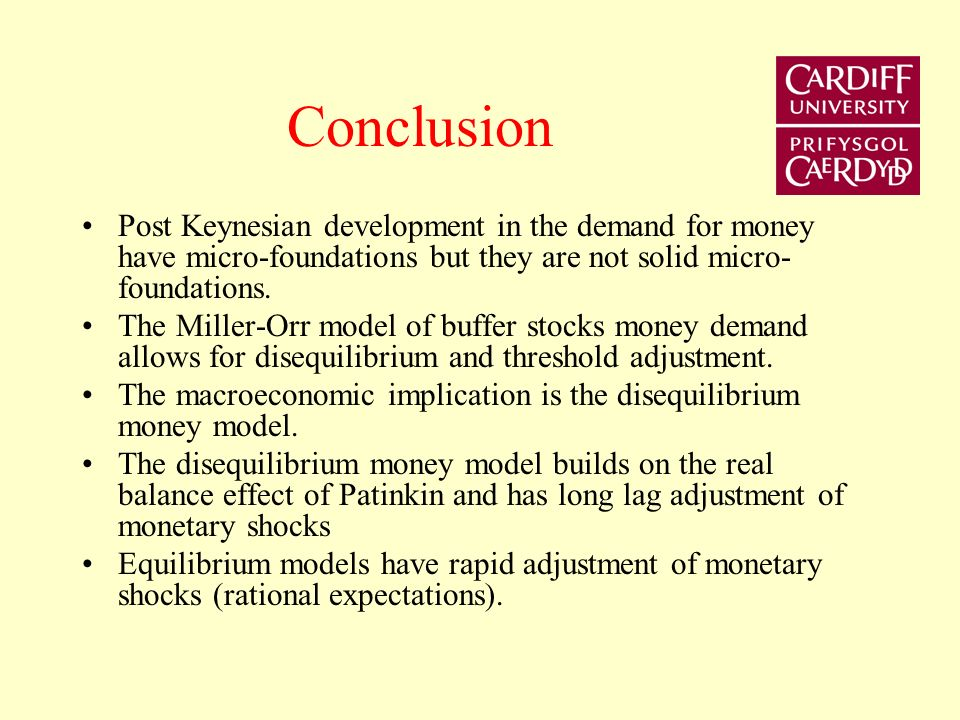 Disequilibrium Money causes adjustments in all markets